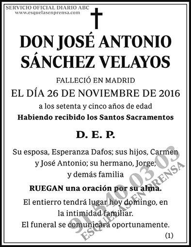José Antonio Sánchez Velayos